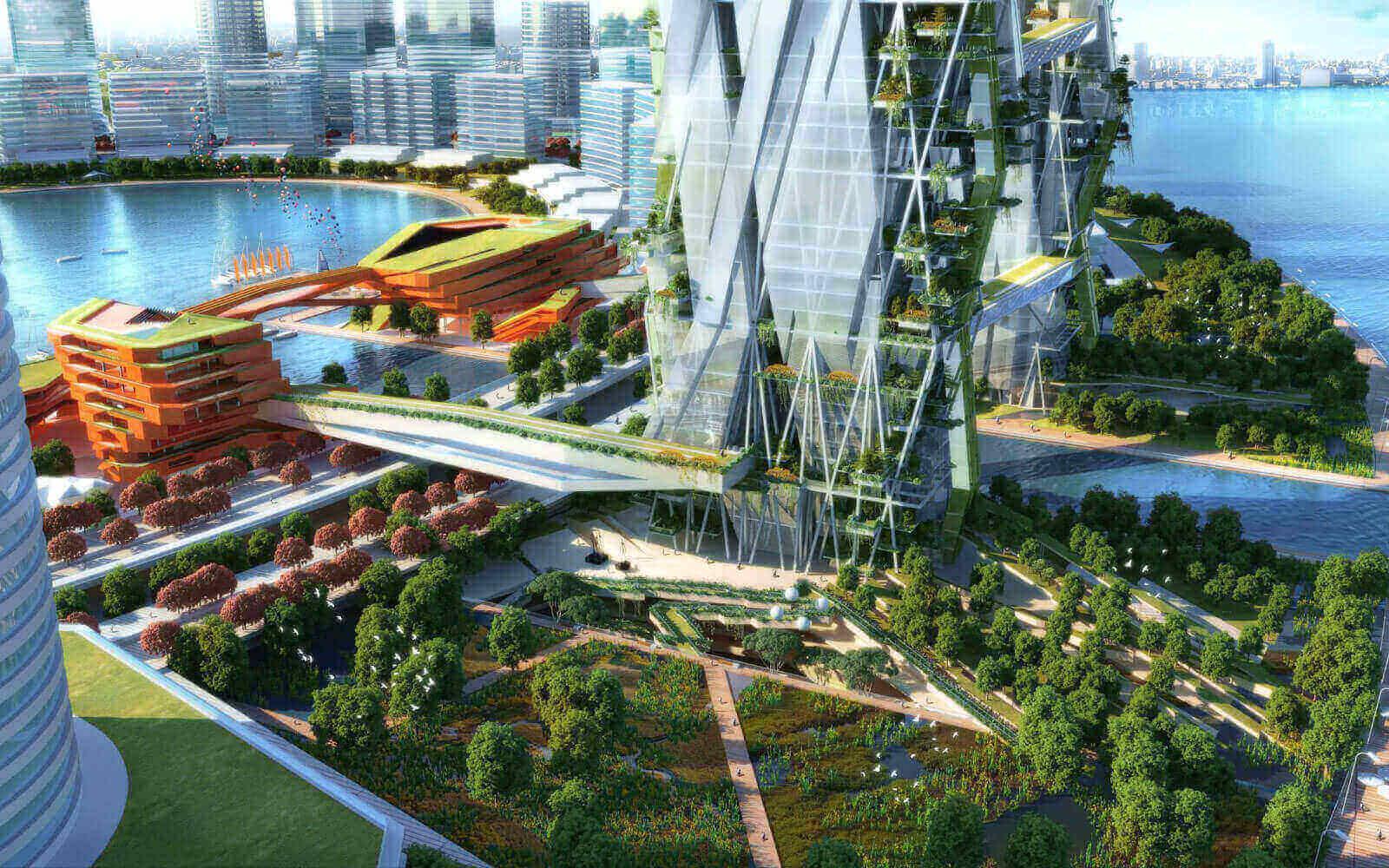 ecological architect wet land park for long hu