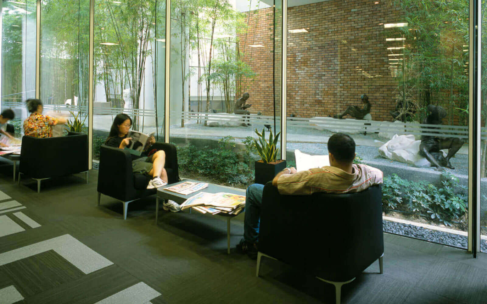 ecology architect sitting area view for nlb