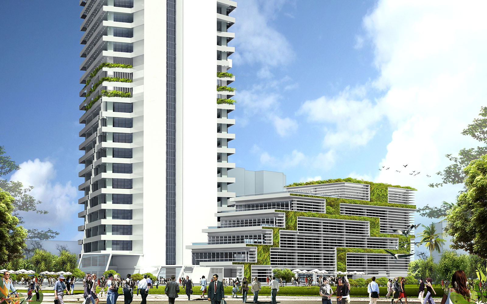 IMG 1 of bioclimatic tropical tower from ecologcal architect Hamzah and Yeang