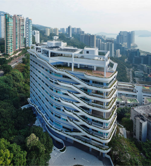 unique building from hamzah and yeang ecological architect