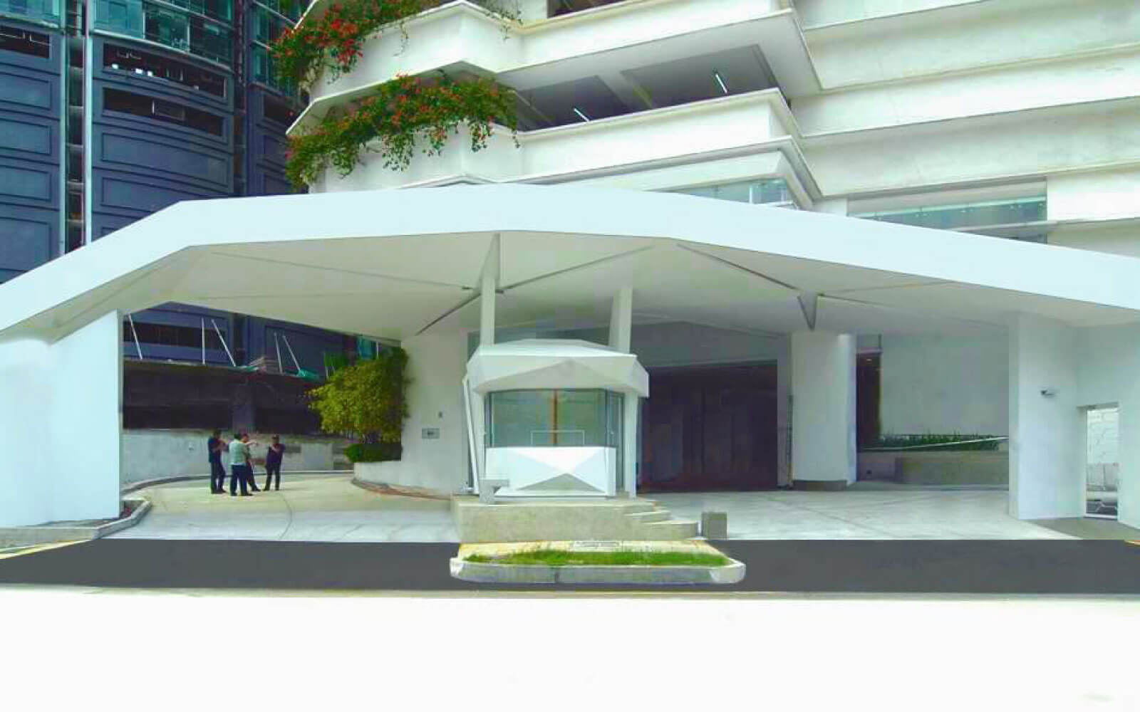 Image 4 ecological architect designs new guard house for Idman