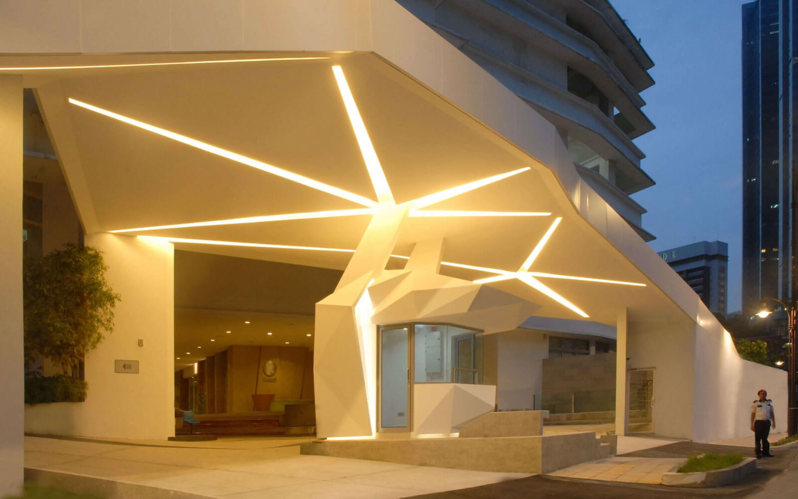 lobby and guardhouse by ecological architect