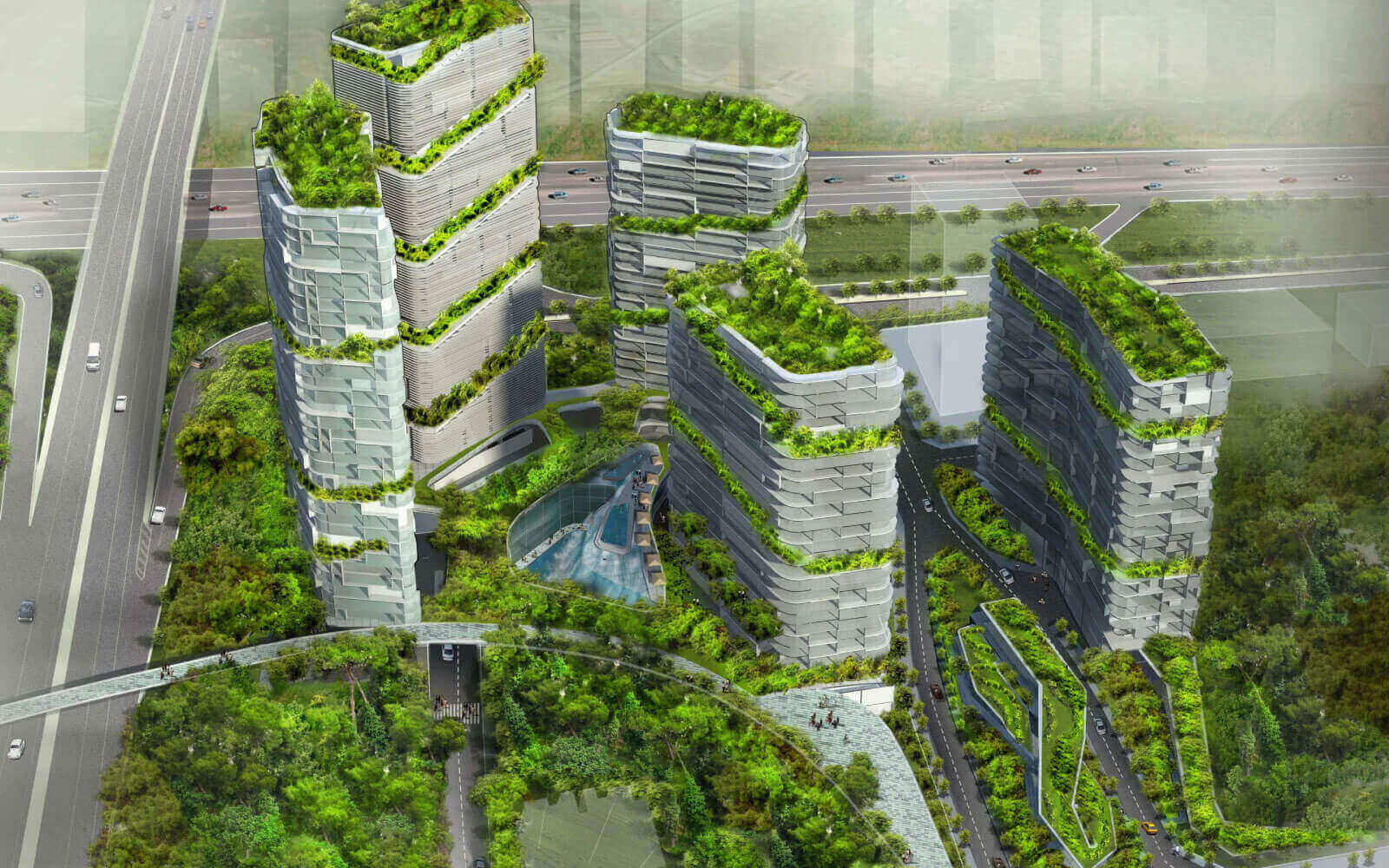 ecological architect tower block for shezhen